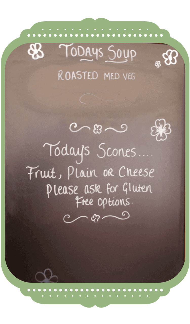 Menu Daily specials at Rosie Tea Room and Bakery Brockenhurst New Forest