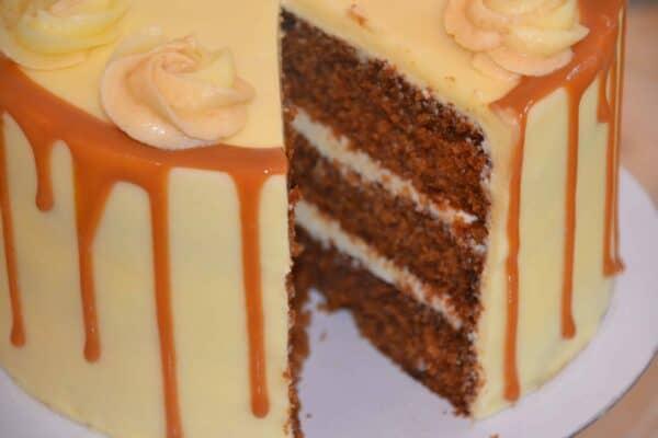 Signature range at rosie lea Salted caramel cake